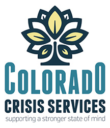 Colorado Crisis Services Logo - Supporting a stronger state of mind